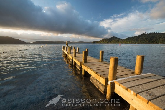 Summer evening fishing on the jetty at Lake Rotoma.  New Zealand landscape photography by Todd Sisson.