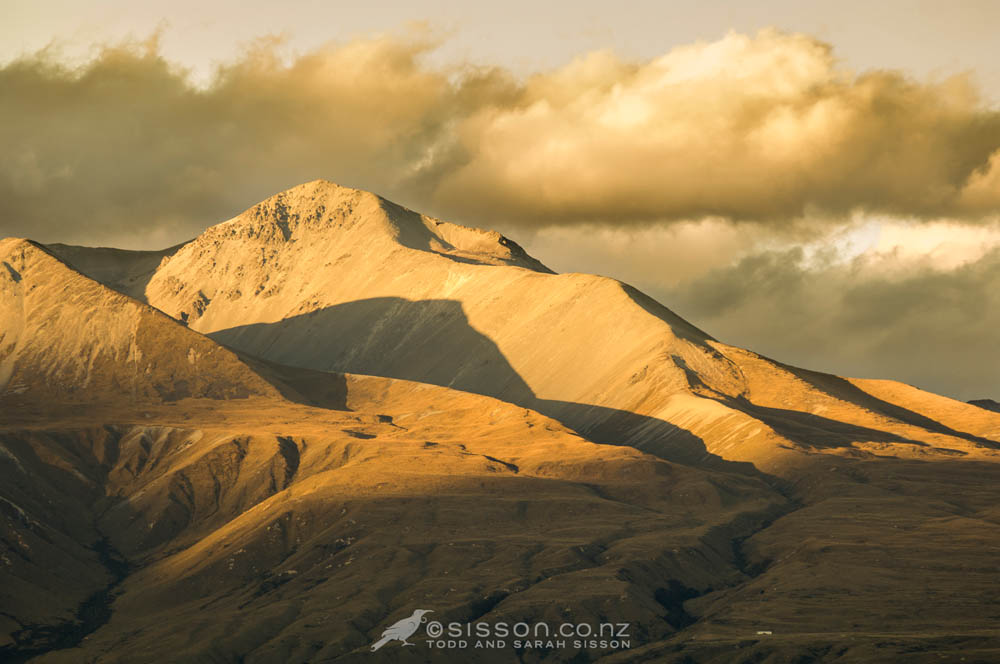 New zealand images sunset on mountain ridges rangitata for Nz landscape