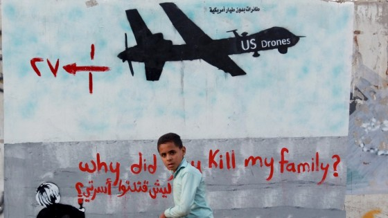 Mural in Sanna, Yemen - (MOHAMMED HUWAIS/AFP/Getty Images)
