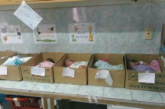 babies-kept-in-cardboard-boxes-in-venezuela-as-a-hospital-runs-low-on-resources